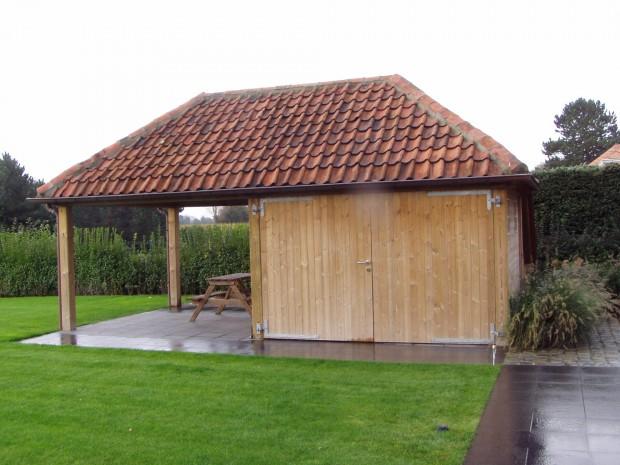 Wonderlijk Tuinhuis en carport | Tuinen Desoete ontwerp en plaatsing, maatwerk OL-28