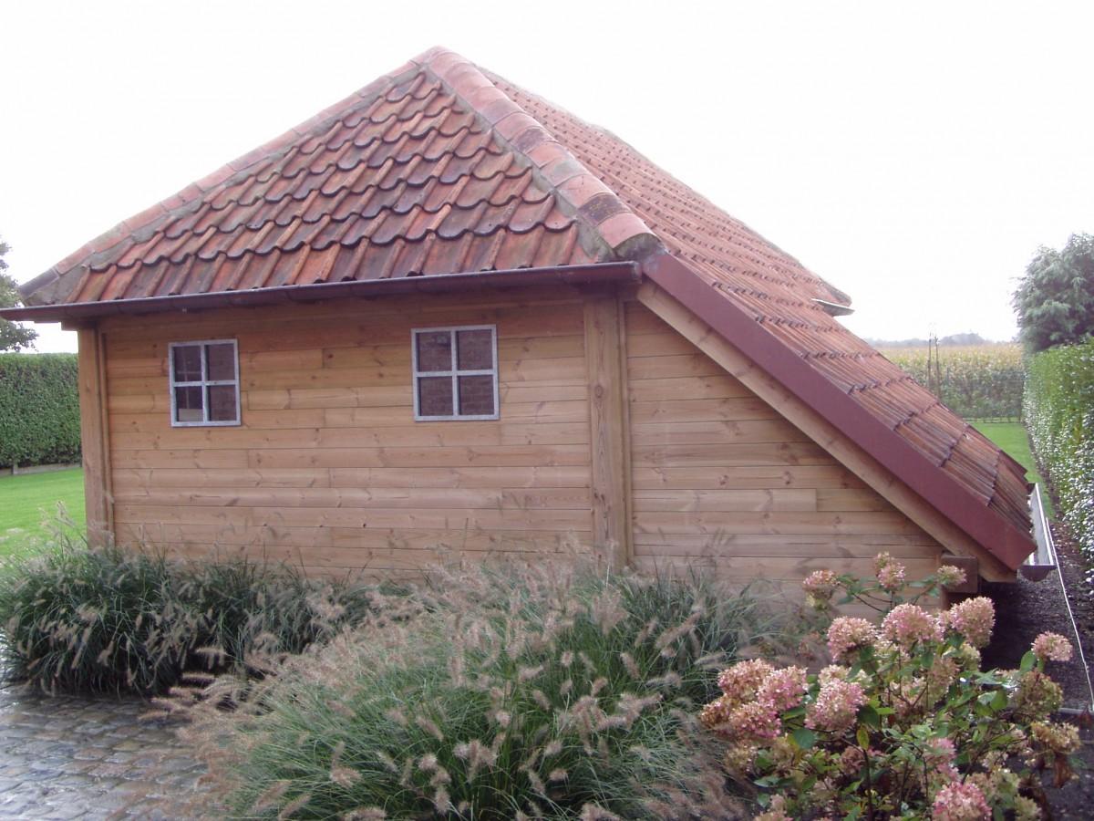 Tuinhuis en carport tuinen desoete ontwerp en plaatsing maatwerk - Ontwerp tuinhuis ...