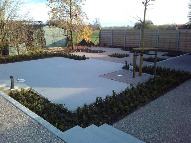 Verhardingswerken oprit terras tuinpad ontwerp aanleg tuinen