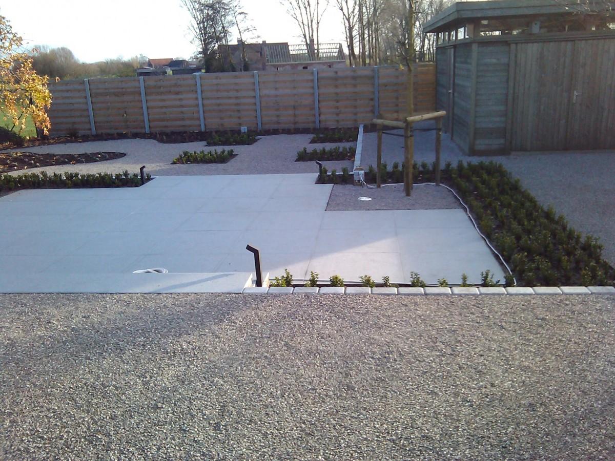 Verhardingswerken oprit terras tuinpad ontwerp for Oprit ontwerp